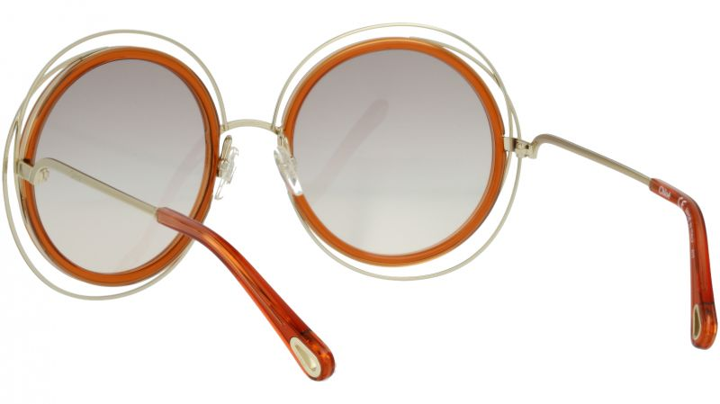 CHLOE CE120SD 735 58 Gold Caramel Carlina Round Sunglasses
