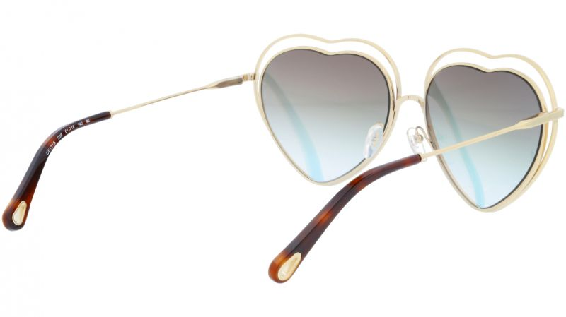 Chloé CE131S 238 61 Havana Brown Peach Poppy Heart Sunglasses