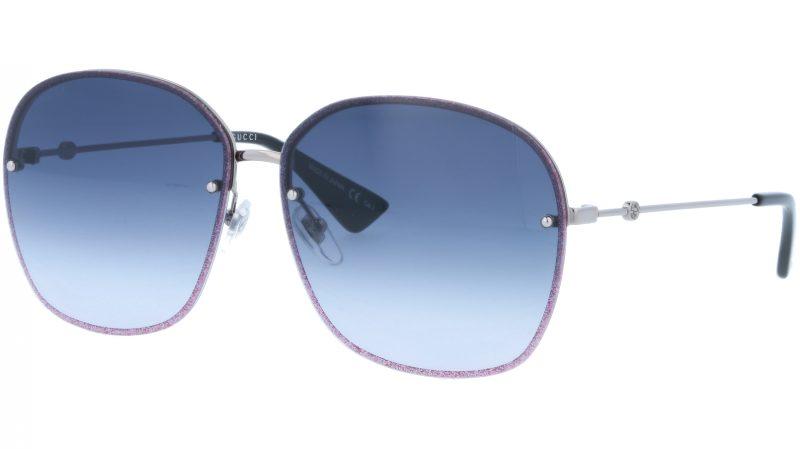 GUCCI GG0228S 004 63 RUTHENIUM Sunglasses