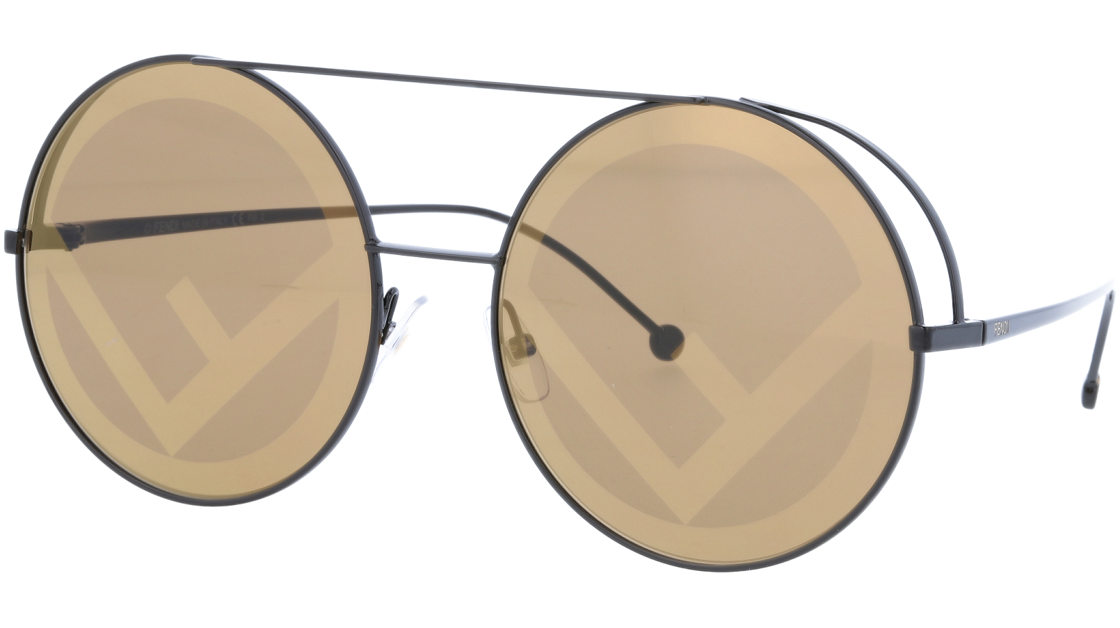 FENDI FF0285/S 09Q 63 Brown Round Sunglasses