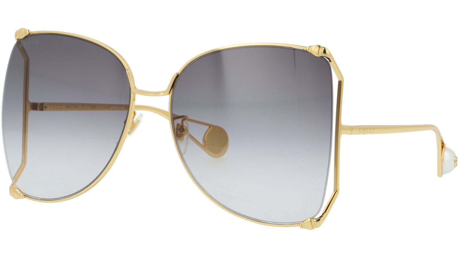 GUCCI GG0252S 004  63 GOLD Sunglasses
