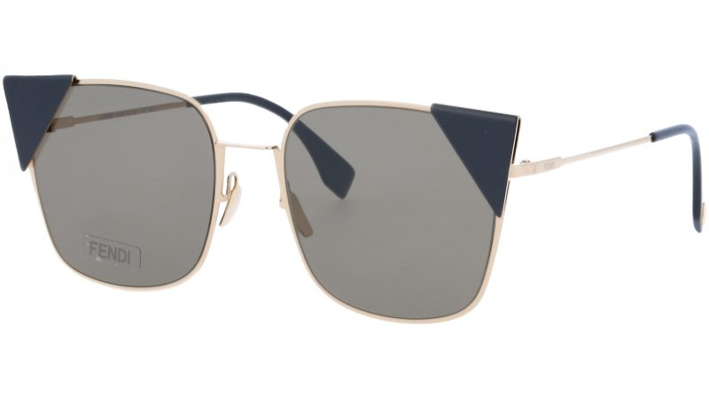 FENDI FF0191/S 0002M 55 Rose Gold Cat-Eye Sunglasses