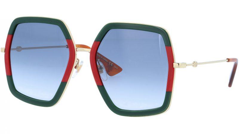 GUCCI GG0106S 007 56 GREEN Sunglasses