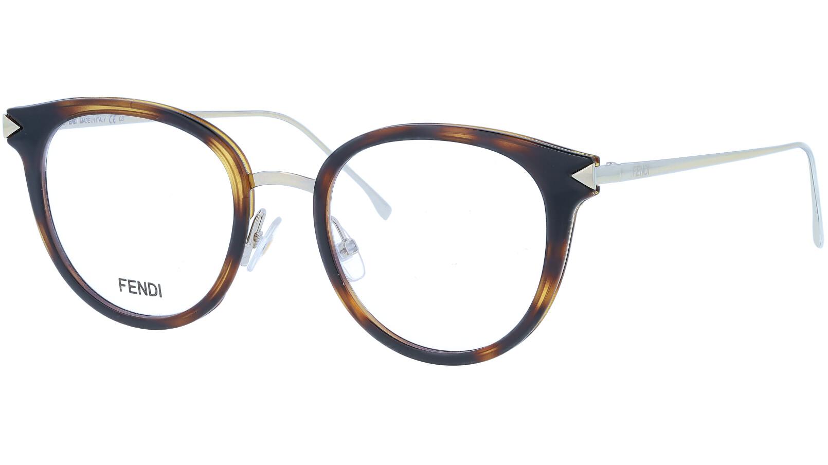 FENDI FF0166 V4Z 48 HAVANA Glasses
