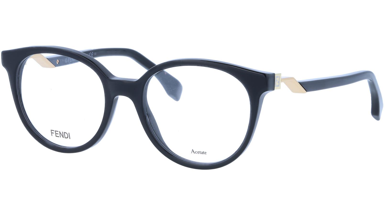 FENDI FF0202 807 50 BLACK Glasses
