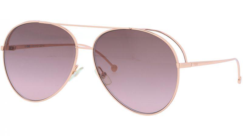 FENDI FF0286/S DDBHA 63 Gold Copper Aviator Sunglasses