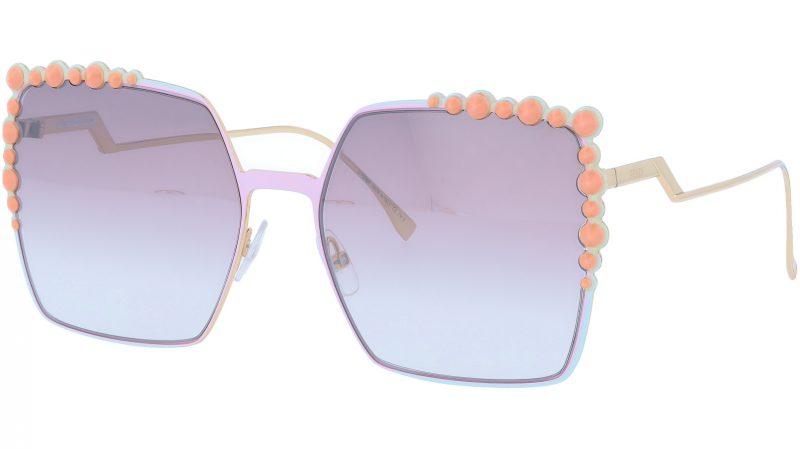 FENDI FF0259/S 35JNQ 60 Pink Studded Sunglasses