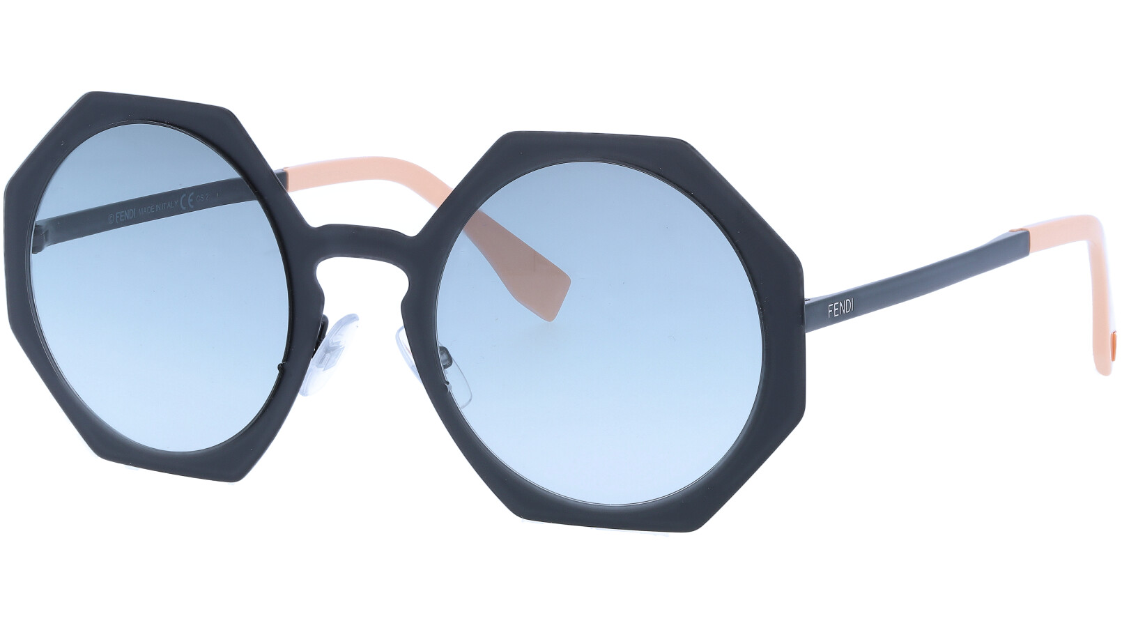 FENDI FF0152/S 003JJ 51 Matt Black Geometric Sunglasses