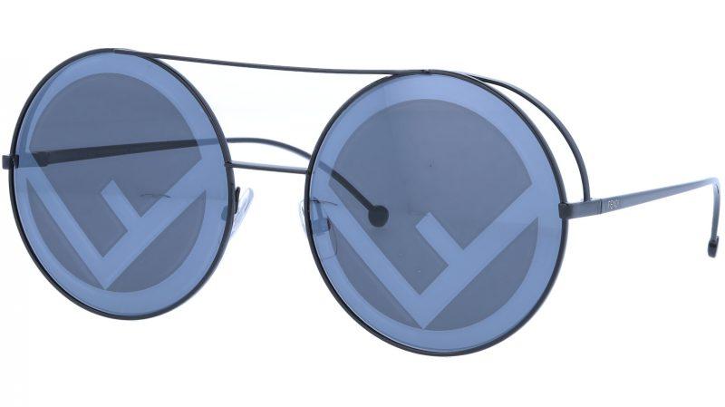 FENDI FF0285/S 807MD 63 Black Round Sunglasses