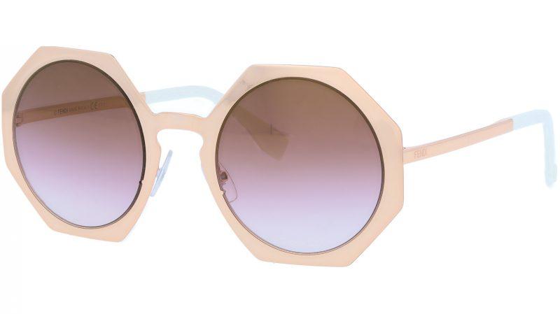FENDI FF0152/S DDBQH 51 Gold Copper Geometric Sunglasses