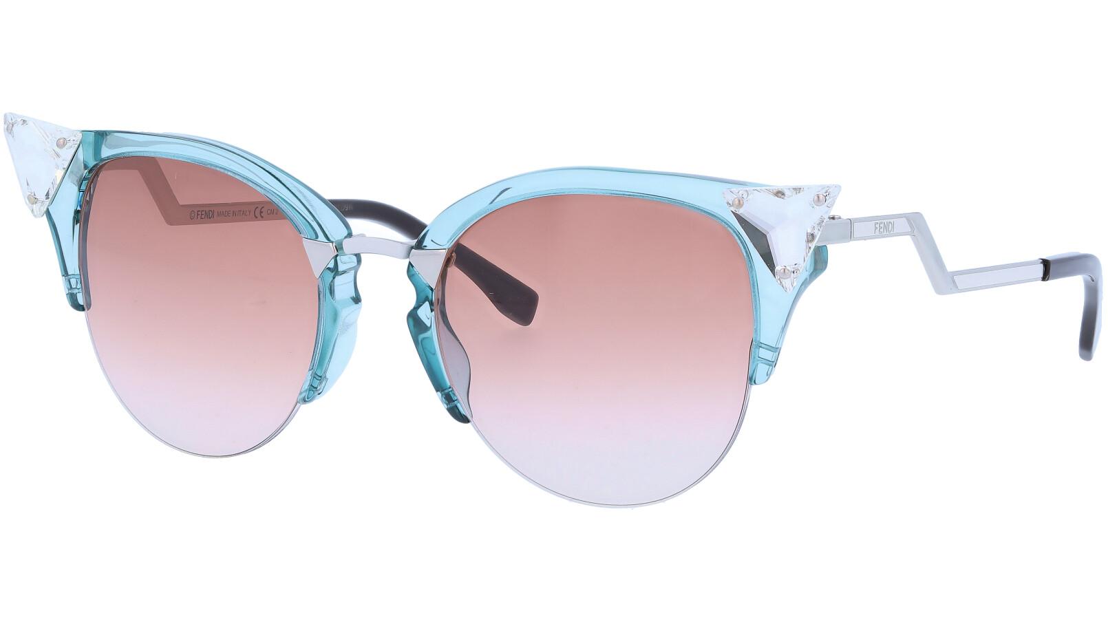 FENDI FF0041/S 9EQNF 52 BL Iridia Sunglasses
