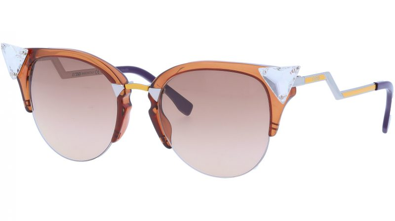 FENDI FF0041/S NI342 52 BRWN Iridia Sunglasses