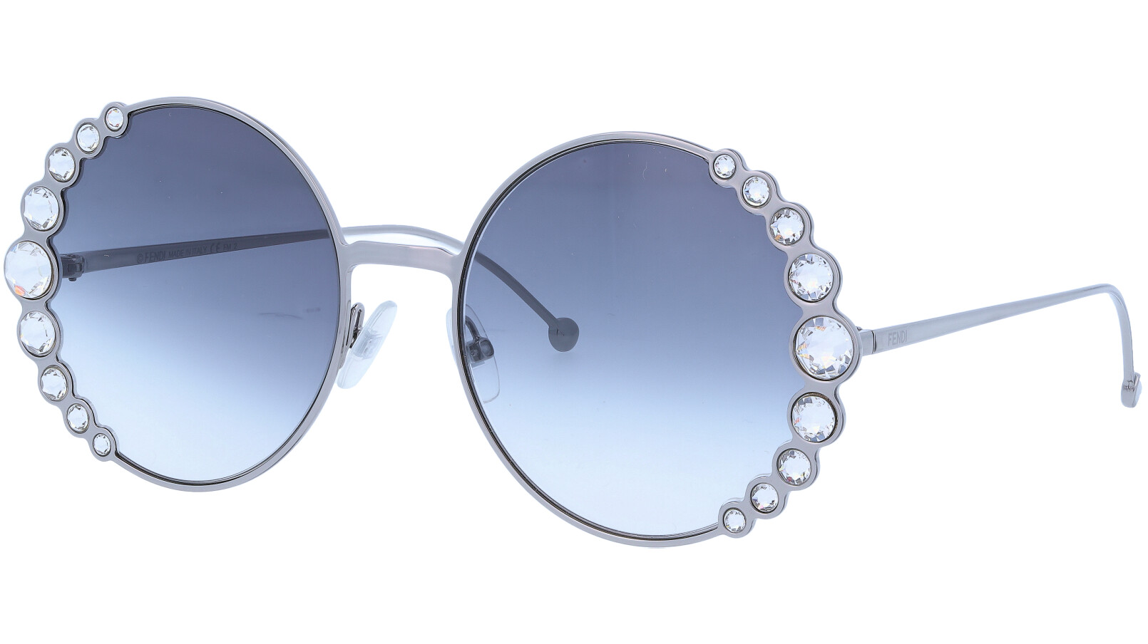 FENDI FF0324/S 6LB90 58 Ruthenium Diamond Sunglasses