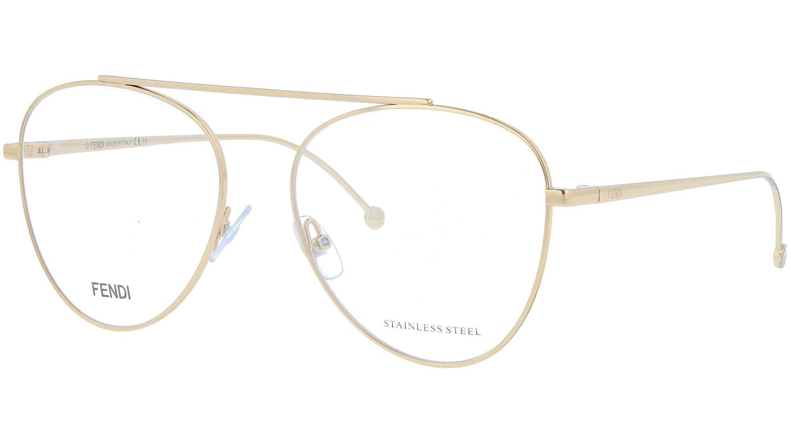 FENDI FF0352 J5G 56 GOLD Glasses