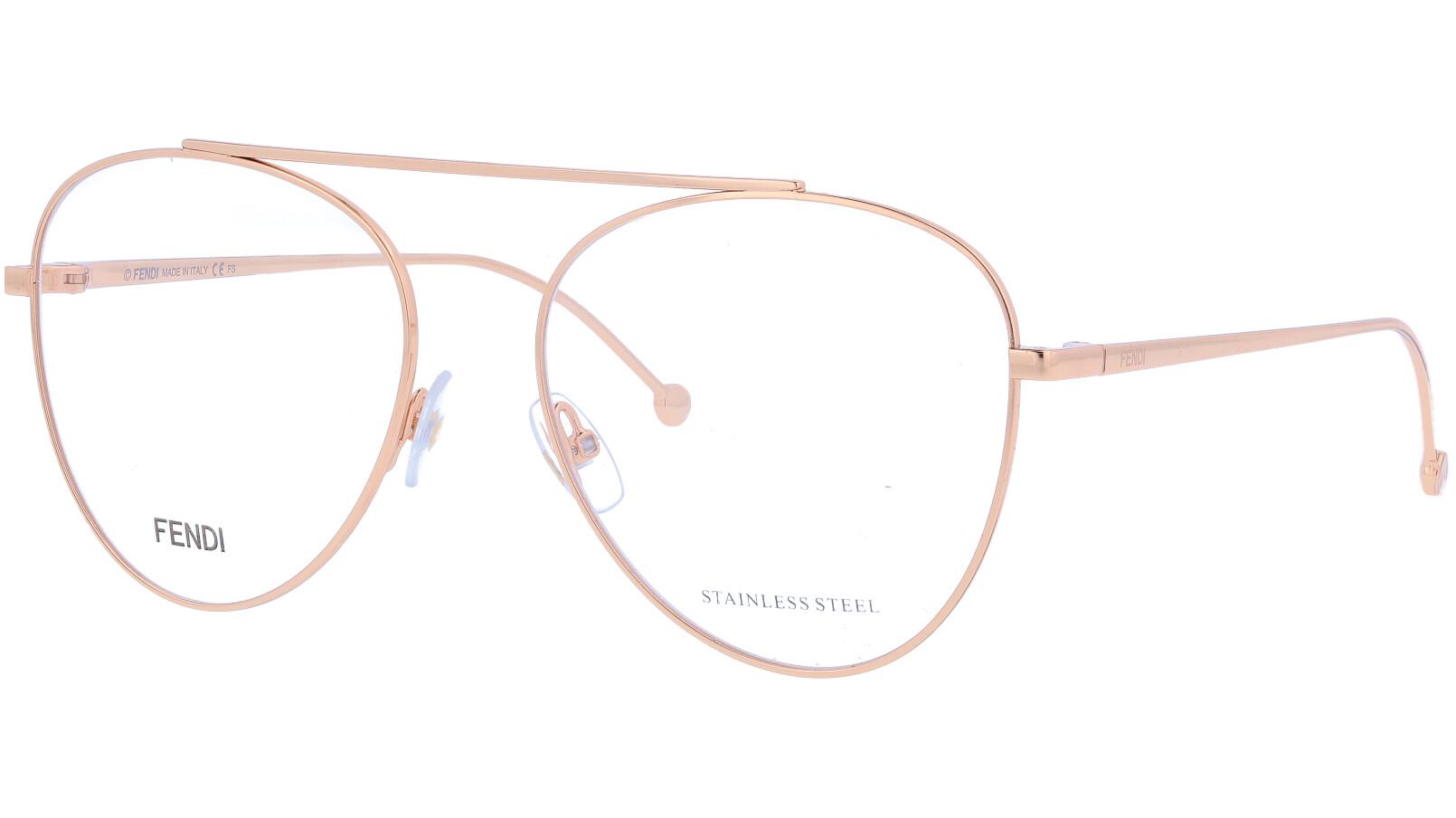FENDI FF0352 DDB 56 GOLD Glasses
