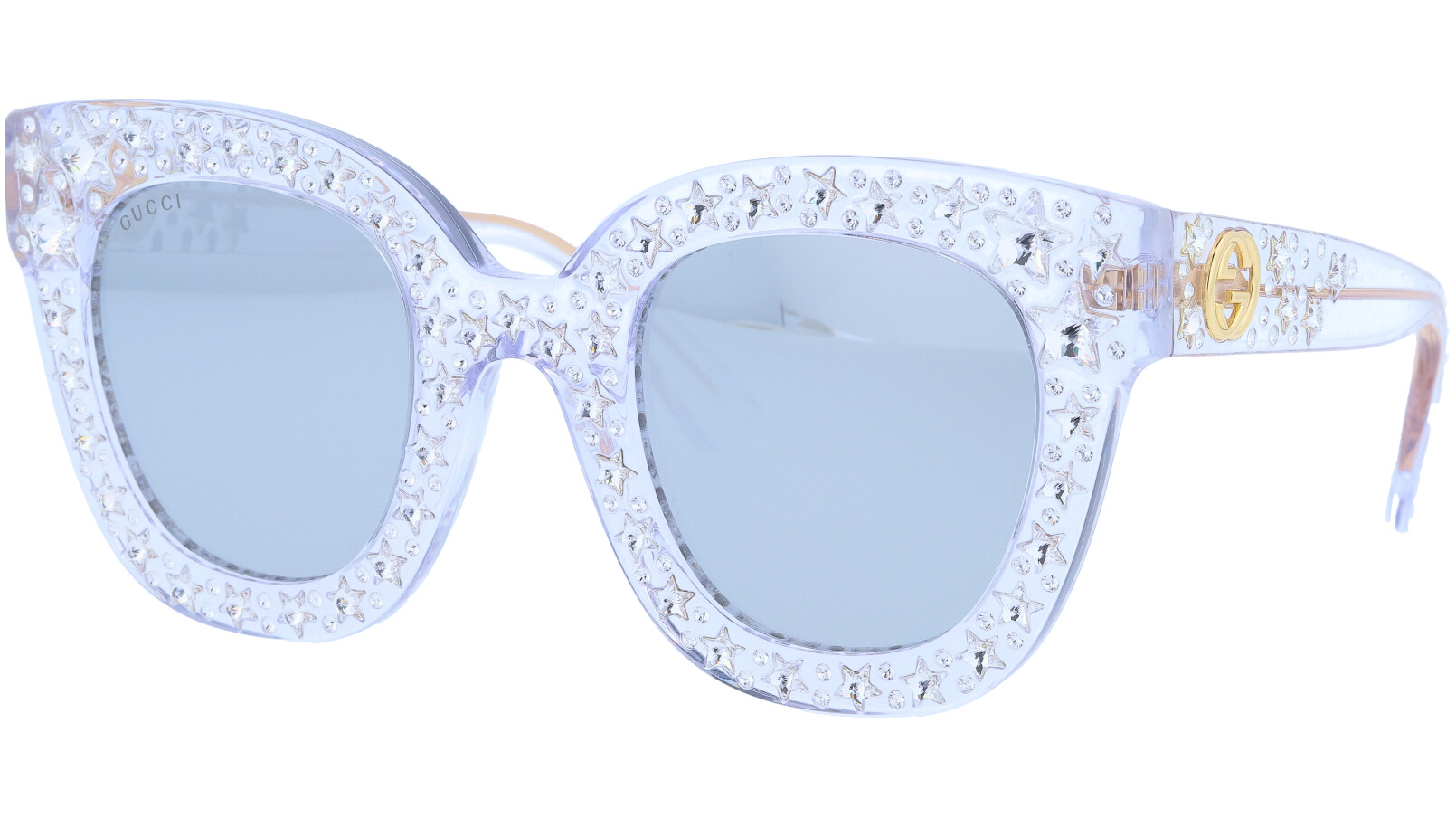 GUCCI GG0116S 001 49 CRYSTAL Sunglasses