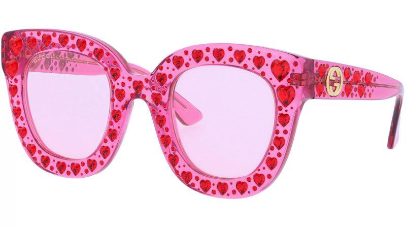 GUCCI GG0116S 007 49 FUCHSIA Sunglasses