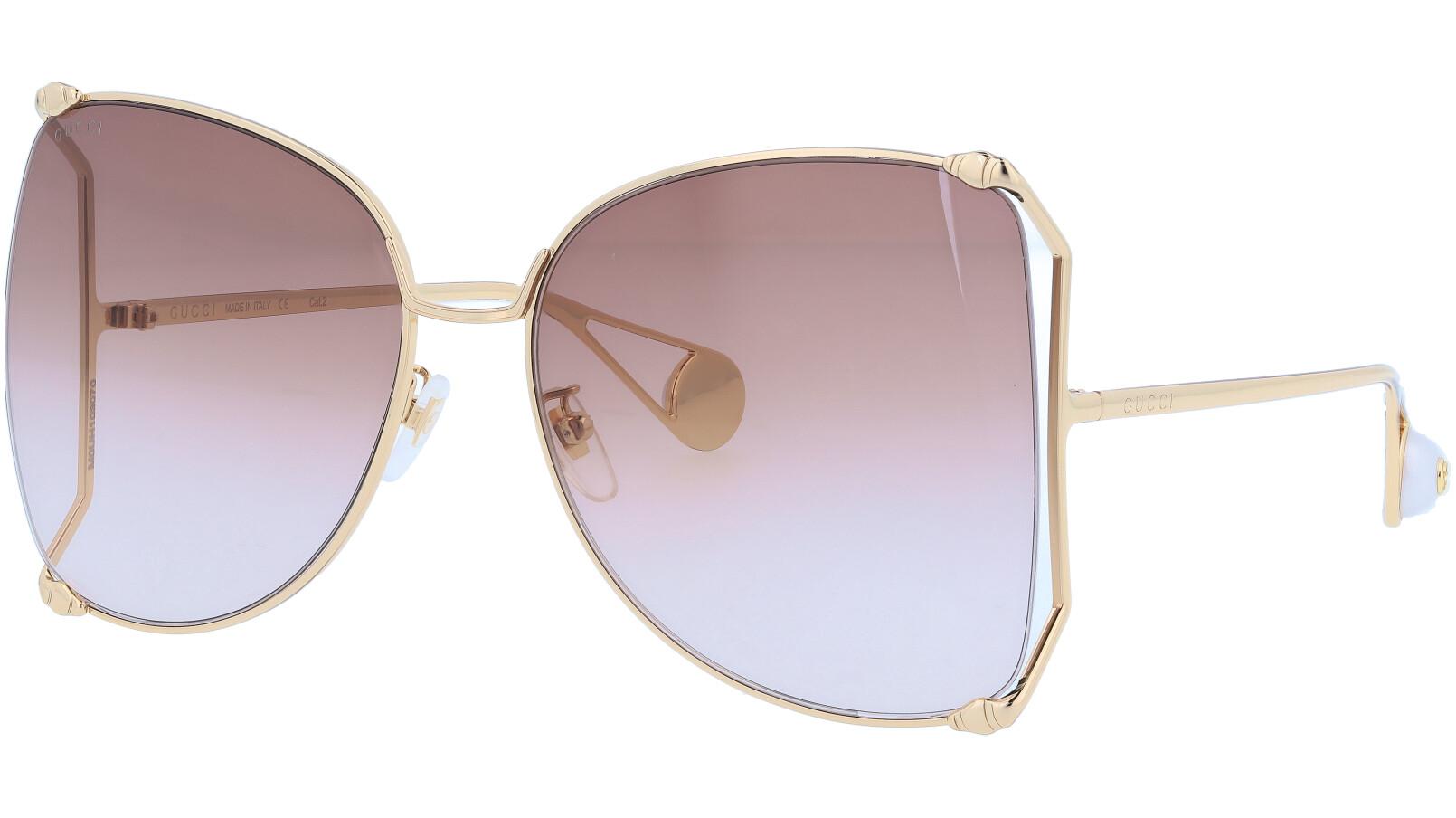 GUCCI GG0252S 002 63 GOLD Sunglasses