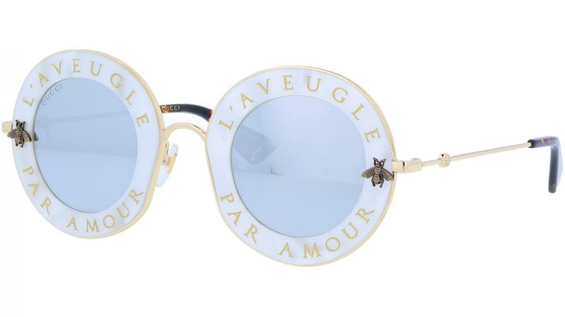 GUCCI GG0113S 003 44 WHITE Sunglasses