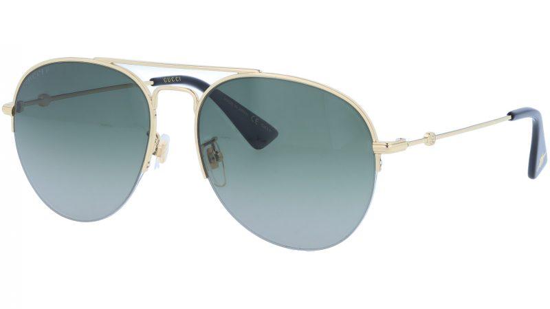 GUCCI GG0107S 001 56 GOLD Sunglasses