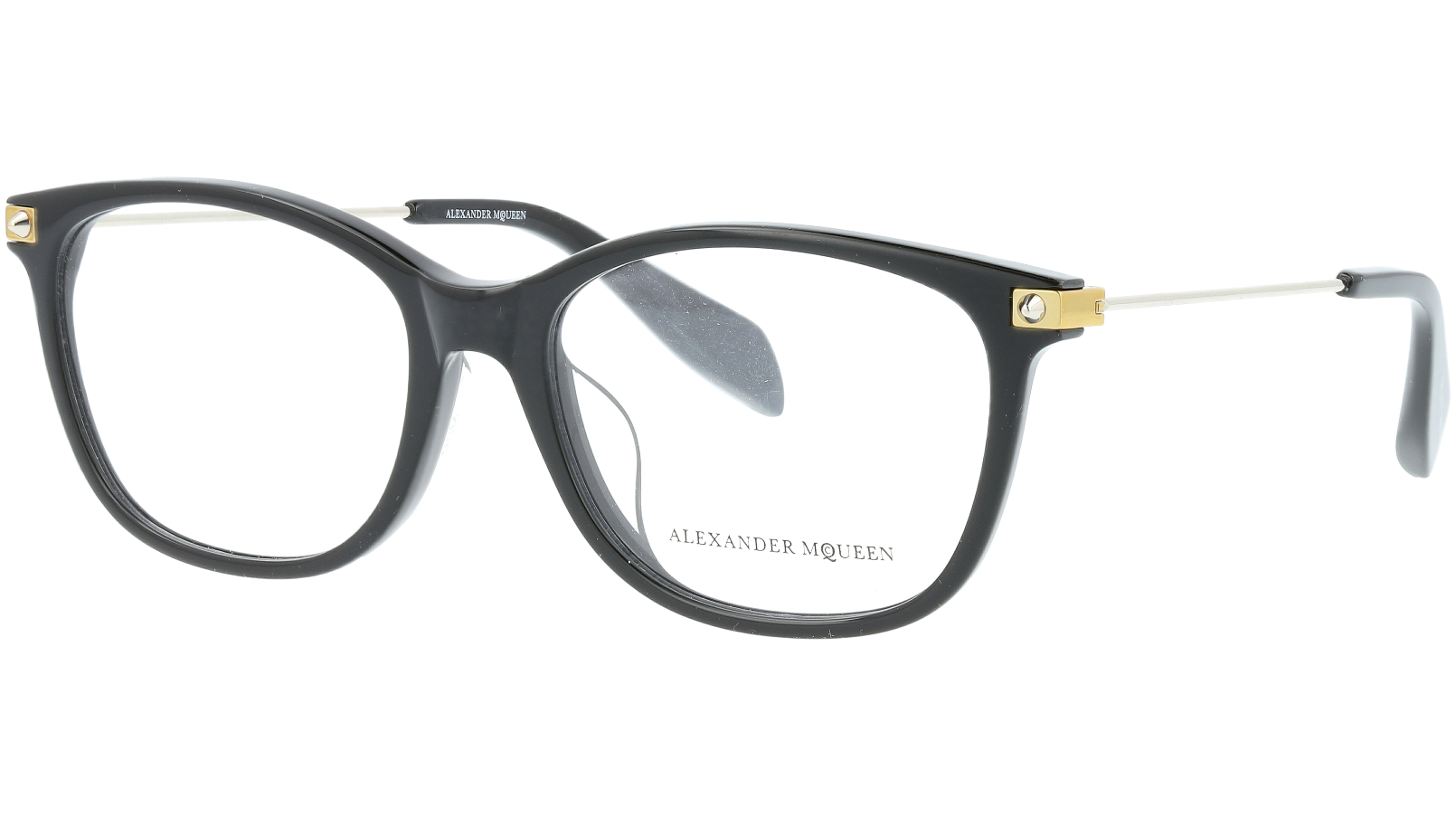 ALEXANDER MCQUEEN AM0094OA 001 53 BLACK Glasses