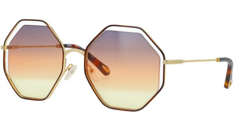Chloé CE132S 259 58 Havana Octagonal Sunglasses