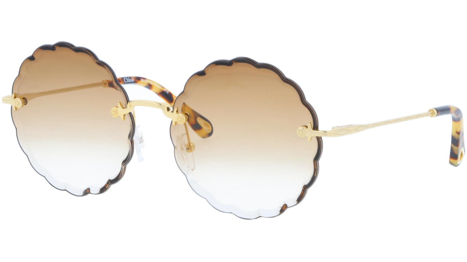 CHLOE CE142S 742 60 Gold Brown Round Sunglasses