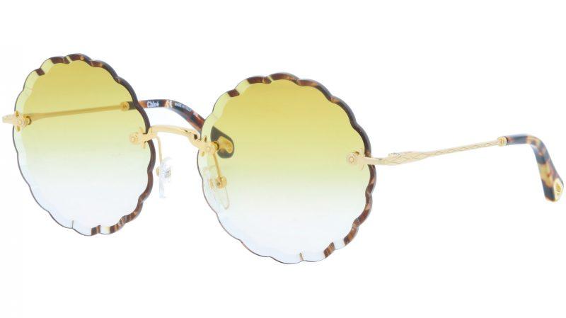 CHLOE CE142S 817 60 Gold Yellow Round Sunglasses