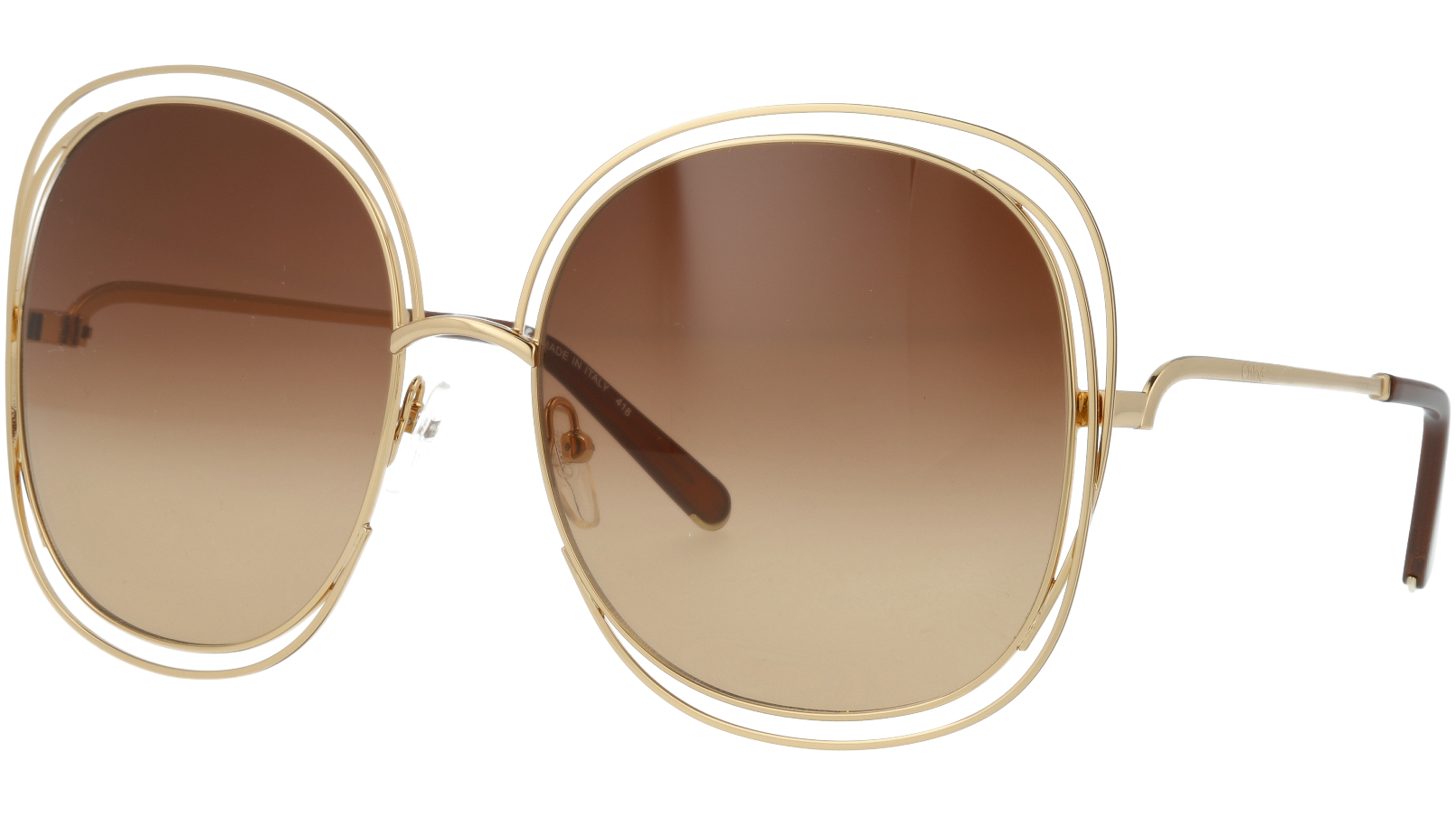 CHLOE CE126S 724 62 Gold/Transparent Peach Carlina Sunglasses