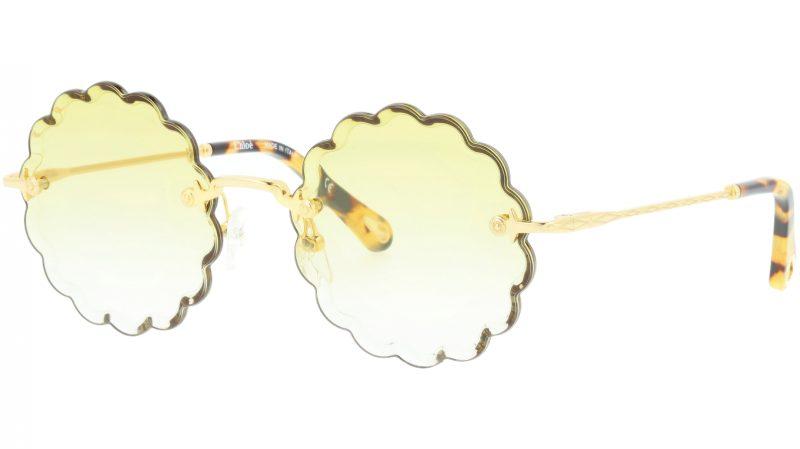 CHLOE CE142S 826 53 Gold Yellow Round Sunglasses