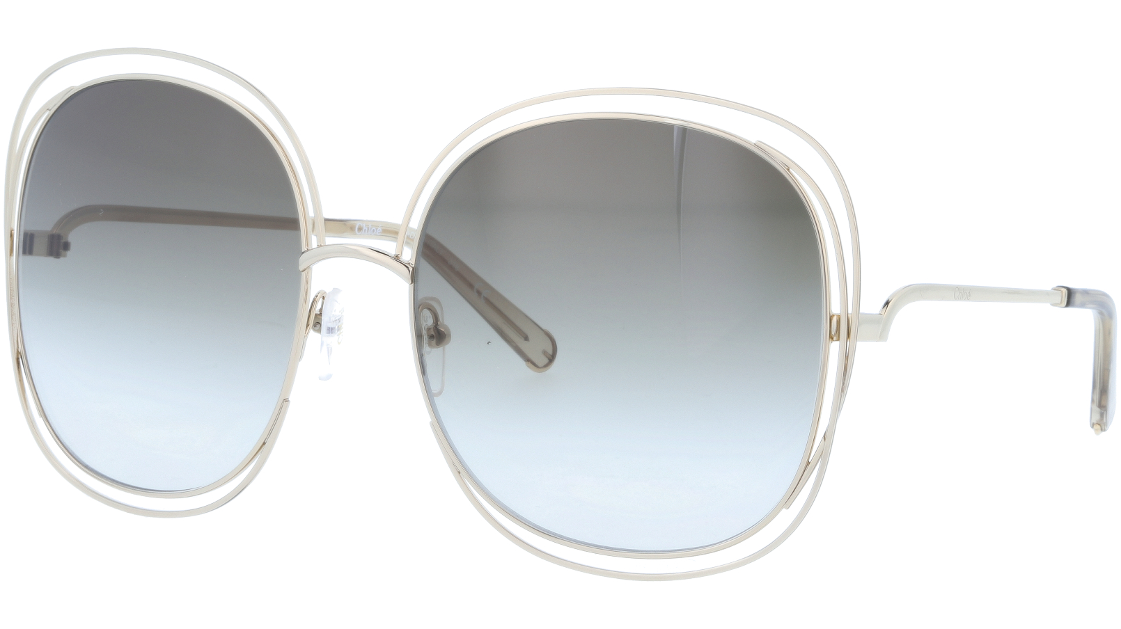 CHLOE CE126S 733 62 Gold/Transparent Grey Carlina Sunglasses