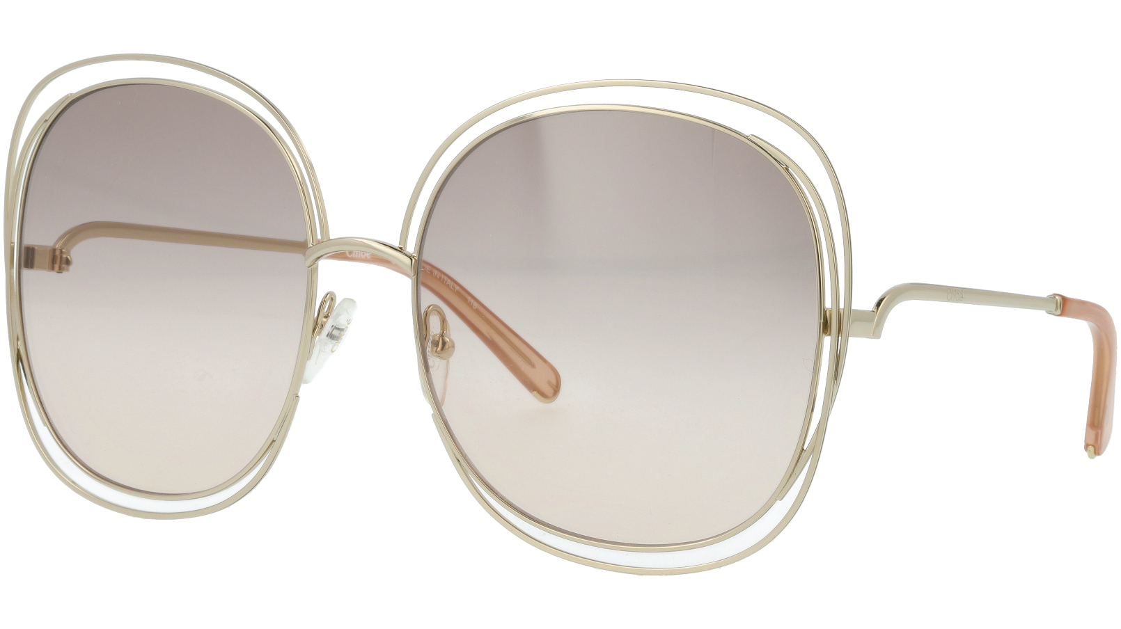CHLOE CE126S 724 62 Gold/Transparent Peach Carlina Sunglasses