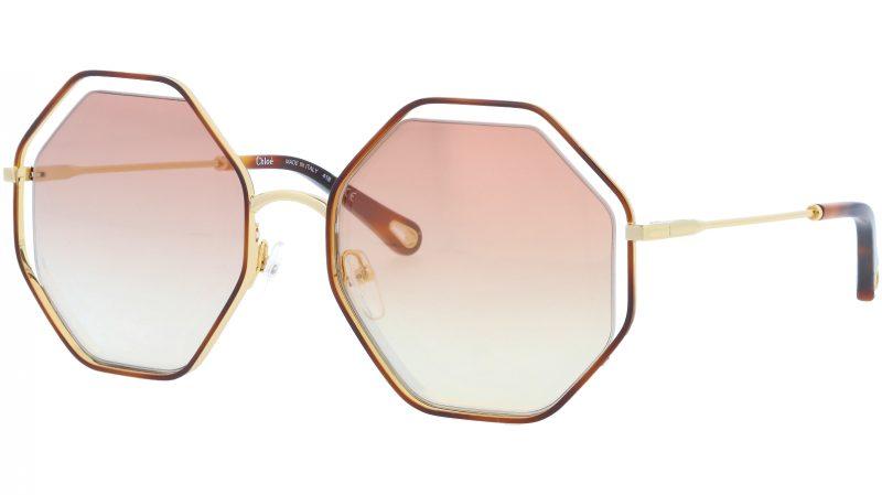 CHLOE CE132S 205 58 Havana Bronze Octagonal Sunglasses
