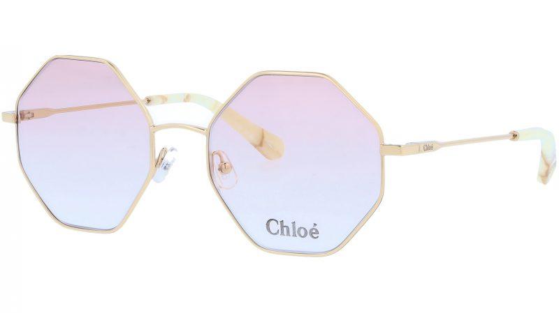 CHLOE CE2134 717 55 Gold Octagonal Sunglasses