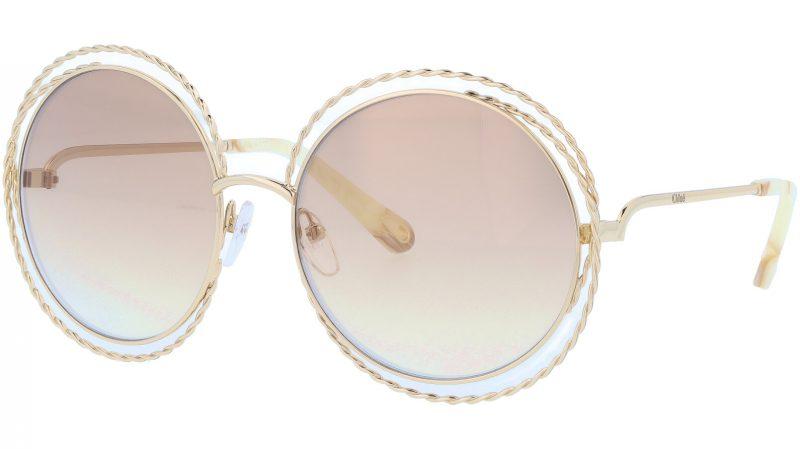 Chloé CE114ST 810 58 Gold Flash Brown Carlina Sunglasses