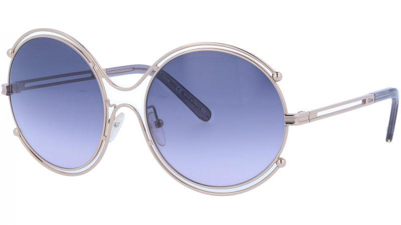 CHLOE CE122S 744 59 Gold Grey Isidora Round Sunglasses