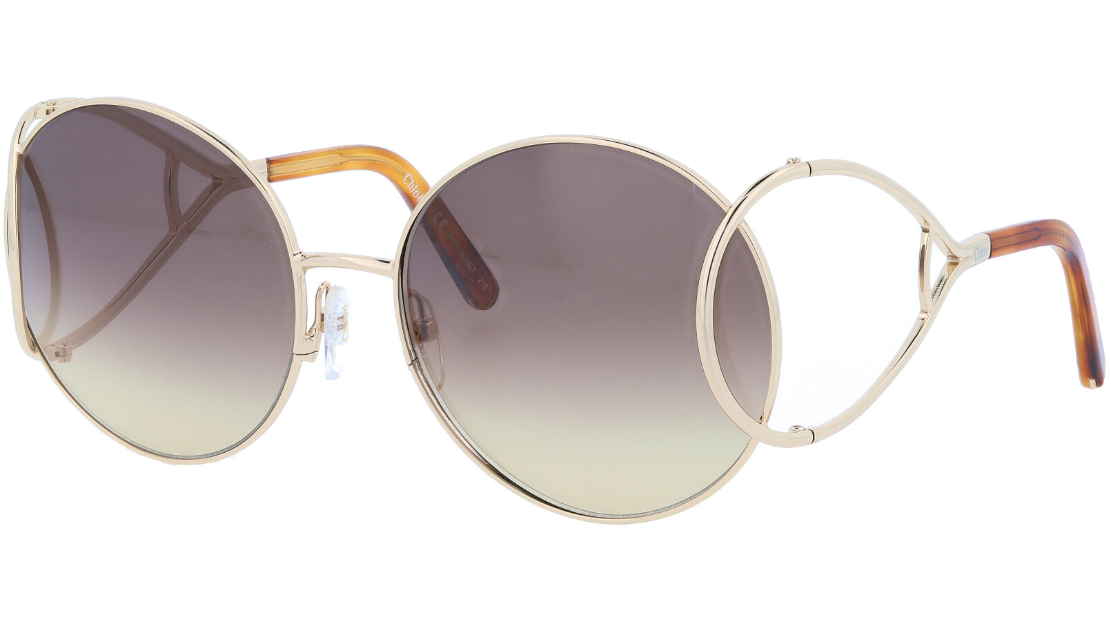 CHLOE CE124S 744 60 Gold Grey Gradient Jackson Oval Sunglasses