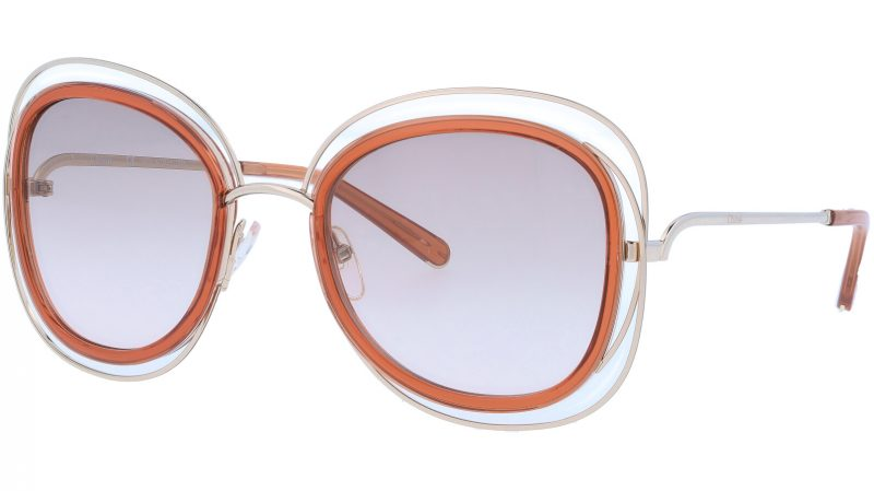 Chloé CE123S 735 56 Gold Caramel Carlina Sunglasses
