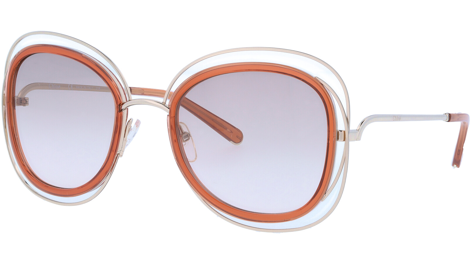 CHLOE CE123S 735 56 Gold Caramel Carlina Sunglasses