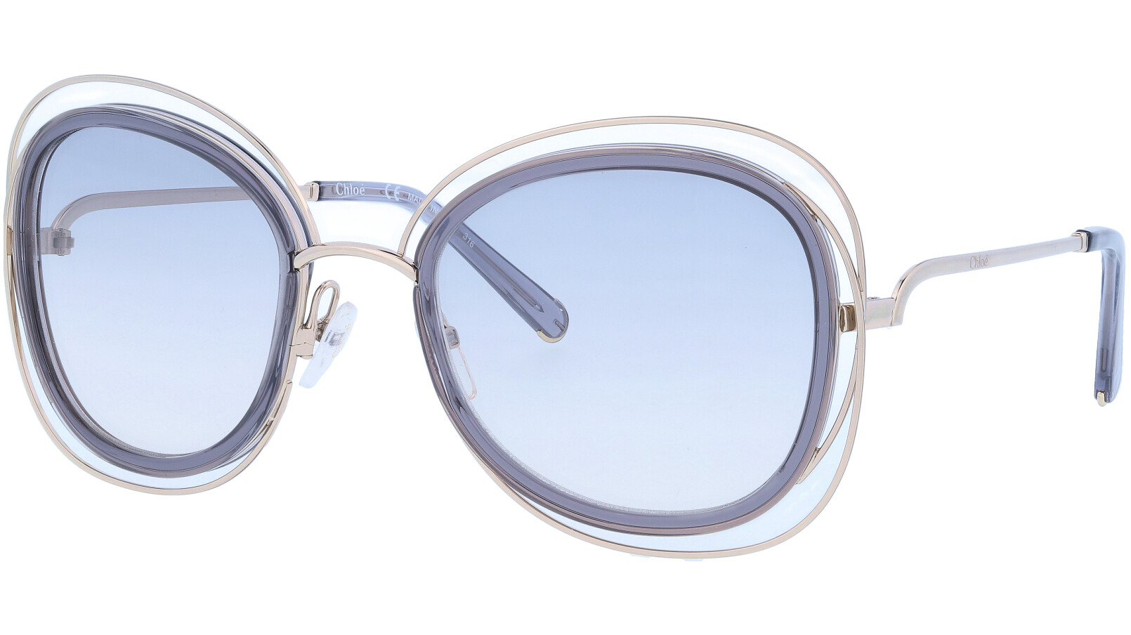 CHLOE CE123S 731 56 Gold Grey Carlina Sunglasses