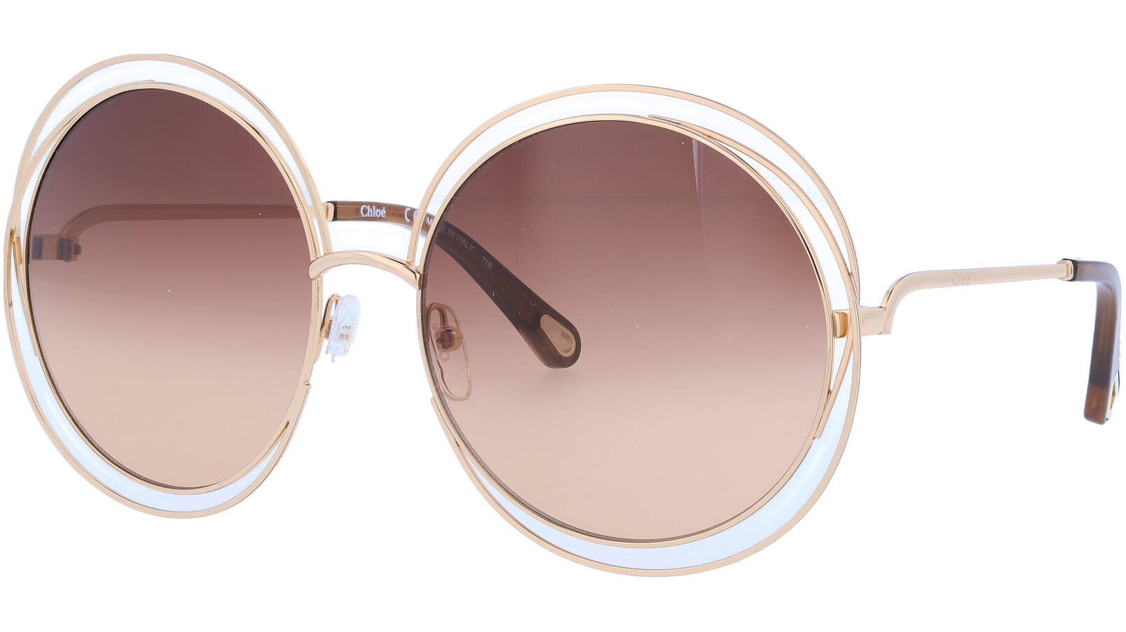 CHLOE CE114SD 724 62 Gold Round Sunglasses