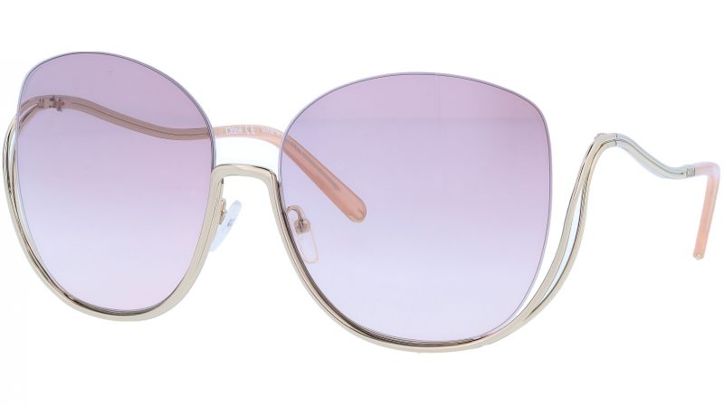 CHLOE CE125S 724 64 Gold Butterfly Sunglasses