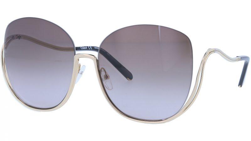 CHLOE CE125S 752 64 Gold Black Butterfly Sunglasses