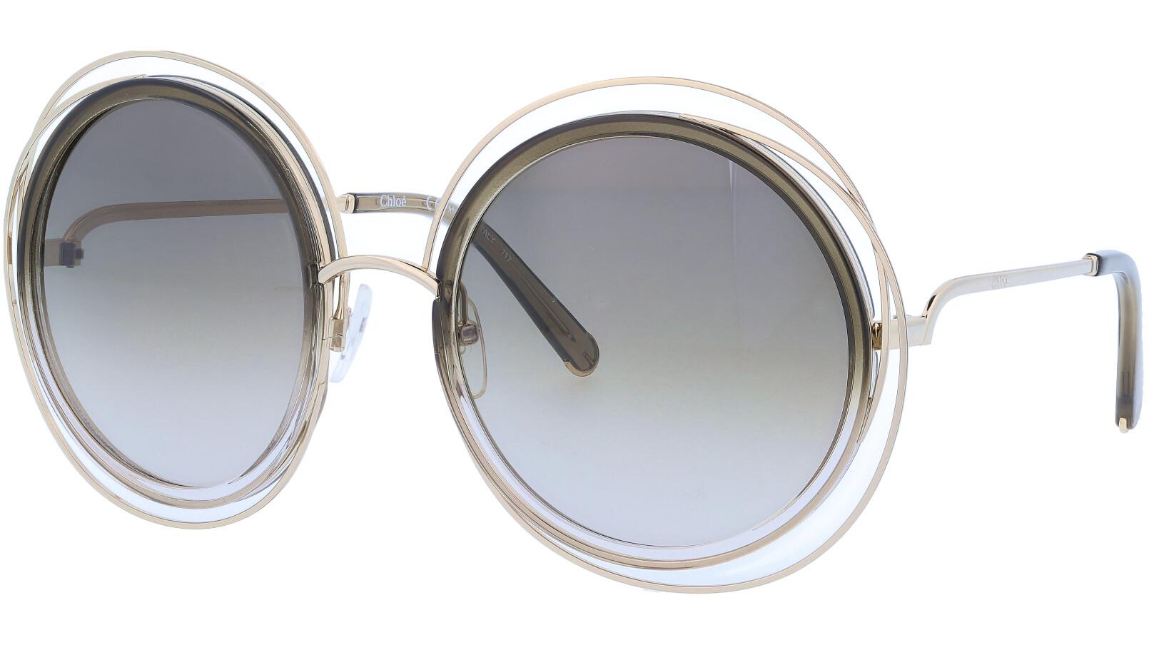 CHLOE CE120SD 724 58 Gold Carlina Round Full Rim Sunglasses