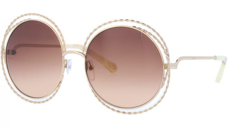 CHLOE CE114ST 743 58 Gold Brown Carlina Sunglasses