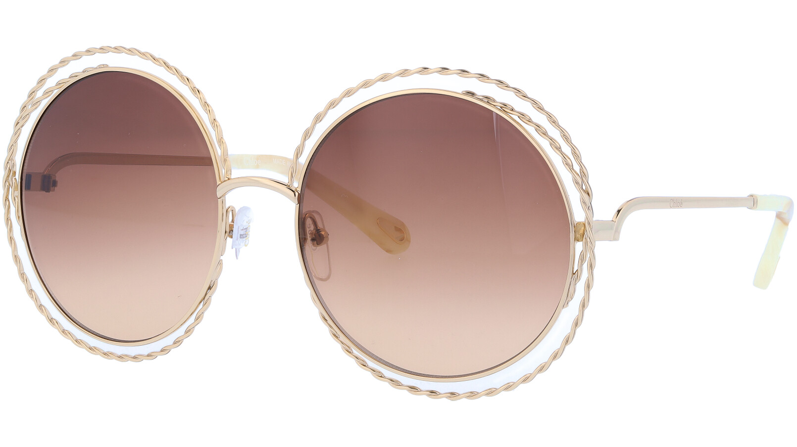 CHLOE CE114ST 743 58 Gold Brown Carlina Sunglasses