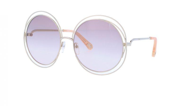 CHLOE CE114SD 702 62 Gold Round Sunglasses
