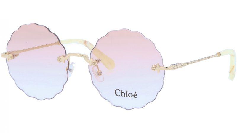 CHLOE CE2147 717 55 Gold Yellow Rimless Sunglasses