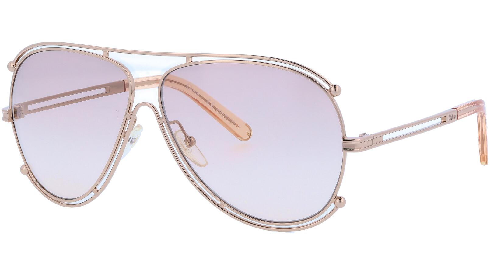 CHLOE CE121S 785 61 Rose Gold Isidora Aviator Sunglasses