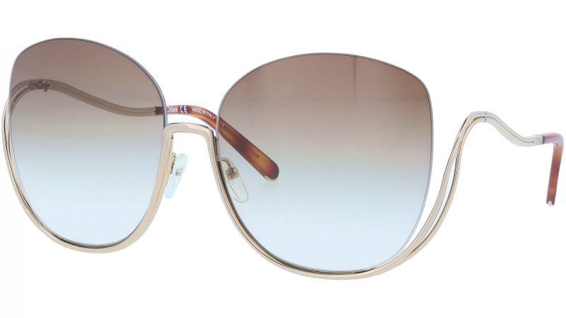 CHLOE CE125S 757 64 Gold Havana Butterfly Sunglasses